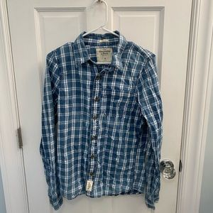 Abercrombie Blue Plaid Button Down